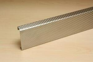 PATTERNED STAINLESS STEEL CRASH RAIL CRSP-10SS